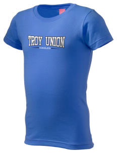Troy Union Elementary School Eagles  Girl's Fine Jersey Longer Length T-Shirt
