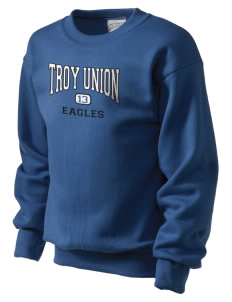 Troy Union Elementary School Eagles Kid's Crewneck Sweatshirt
