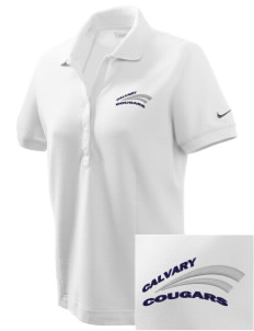 Calvary Christian Academy Cougars Embroidered Nike Women's Pique Golf Polo