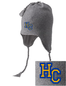 Harvest Christian Academy Knights Embroidered Knit Hat with Earflaps