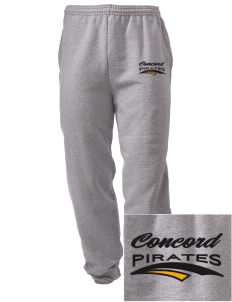 Concord Elementary School Pirates Embroidered Men's Sweatpants with Pockets