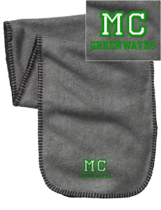 Meade County High School Greenwaves Embroidered Fleece Scarf