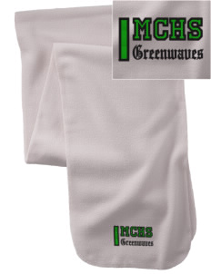 Meade County High School Greenwaves  Embroidered Extra Long Fleece Scarf