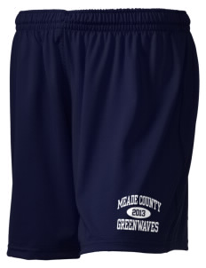 "Meade County High School Greenwaves Holloway Women's Performance Shorts, 5"" Inseam"