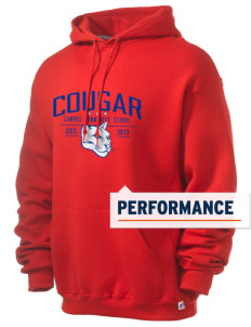 campus community school cougar Russell Men's Dri-Power Hooded Sweatshirt