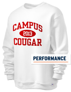 campus community school cougar  Russell Men's Dri-Power Crewneck Sweatshirt