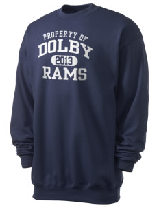 Dolby Elementary School Rams Men's 7.8 oz Lightweight Crewneck Sweatshirt