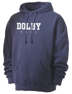 Dolby Elementary School Rams Men's 80/20 Pigment Dyed Hooded Sweatshirt