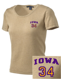 Iowa High School Yellow Jackets Embroidered Women's Fine-Gauge Scoop Neck Sweater
