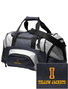 Iowa High School Yellow Jackets Embroidered Small Colorblock Duffel