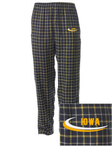 Iowa High School Yellow Jackets Embroidered Men's Button-Fly Collegiate Flannel Pant