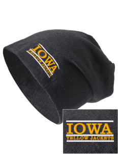 Iowa High School Yellow Jackets Embroidered Slouch Beanie