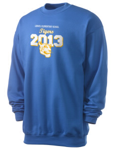 Lenwil Elementary School Tigers Men's 7.8 oz Lightweight Crewneck Sweatshirt