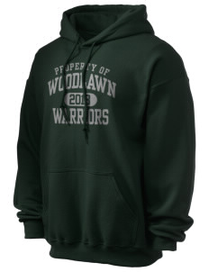 Woodlawn Middle School Warriors Ultra Blend 50/50 Hooded Sweatshirt