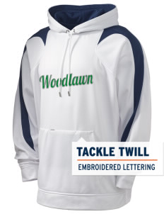 Woodlawn Middle School Warriors Holloway Men's Sports Fleece Hooded Sweatshirt with Tackle Twill