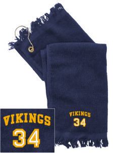 Martha Vinyard Elementary School Vikings  Embroidered Grommeted Finger Tip Towel