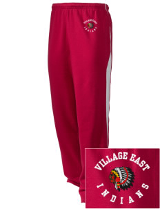 Village East School Indians Embroidered Holloway Men's Pivot Warm Up Pants