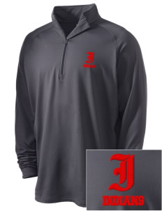 Village East School Indians Embroidered Men's Stretched Half Zip Pullover