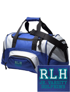 Robert L. Horbelt Dolphins Embroidered Small Colorblock Duffel