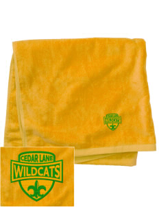 Cedar Lane Elementary School Wildcats Embroidered Beach Towel
