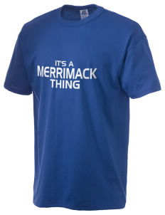 Merrimack High School Tomahawks  Russell Men's NuBlend T-Shirt