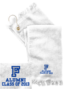 Franklin Middle School Hurricanes  Embroidered Grommeted Finger Tip Towel