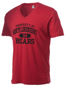 North Londonderry Elementary School Bears Alternative Men's 3.7 oz Basic V-Neck T-Shirt