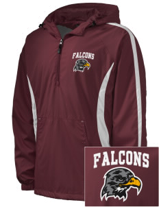 Ventnor Educational Community Complex Falcons Embroidered Men's Colorblock Raglan Anorak