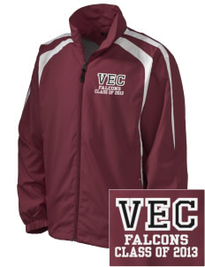 Ventnor Educational Community Complex Falcons Embroidered Men's Colorblock Raglan Jacket