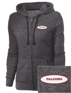 Ventnor Educational Community Complex Falcons Embroidered Women's Marled Full-Zip Hooded Sweatshirt