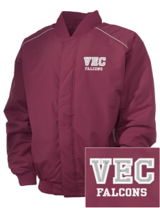 Ventnor Educational Community Complex Falcons Embroidered Russell Men's Baseball Jacket