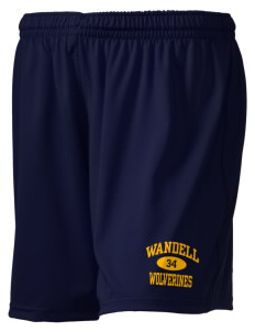 "Wandell Elementary School Wallabees Holloway Women's Performance Shorts, 5"" Inseam"