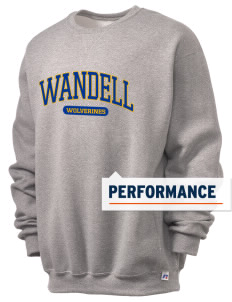 Wandell Elementary School Wallabees  Russell Men's Dri-Power Crewneck Sweatshirt