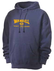 Wandell Elementary School Wallabees Men's 80/20 Pigment Dyed Hooded Sweatshirt