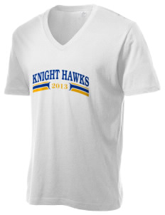 Knight Fundamental Academy Knight Hawks Alternative Men's 3.7 oz Basic V-Neck T-Shirt