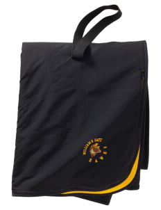 William R. Satz School Hawks  Embroidered Fleece and Nylon Travel Blanket