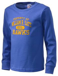 William R. Satz School Hawks  Kid's Long Sleeve T-Shirt