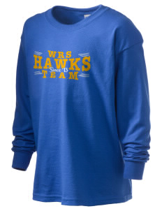 William R. Satz School Hawks Kid's 6.1 oz Long Sleeve Ultra Cotton T-Shirt