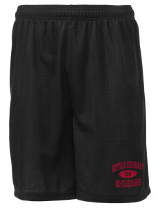 "Buffalo Seminary Red-Tailed Hawks Men's Mesh Shorts, 7-1/2"" Inseam"