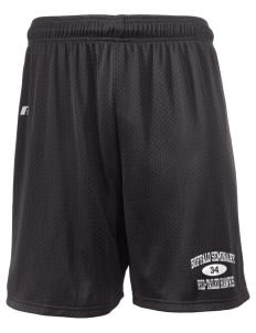 "Buffalo Seminary Red-Tailed Hawks  Russell Men's Mesh Shorts, 7"" Inseam"