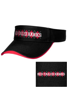 Buffalo Seminary Red-Tailed Hawks Embroidered Binding Visor