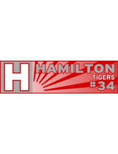 "Hamilton Primary School Tigers Bumper Sticker 11"" x 3"""
