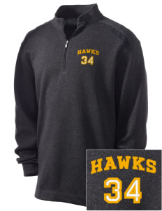 Thoreau High School Hawks Embroidered Nike Men's Golf Heather Cover Up