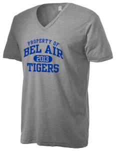 Bel Air Elementary School Tigers Alternative Men's 3.7 oz Basic V-Neck T-Shirt