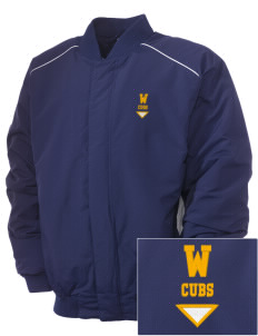 Waveland Elementary School Cubs Embroidered Russell Men's Baseball Jacket