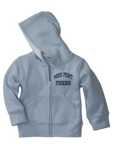Moss Point High School Tigers Baby Full Zip Hoodie