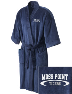 Moss Point High School Tigers Embroidered Terry Velour Robe