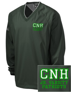 Captain Nathan Hale Middle School Patriots Embroidered adidas Men's ClimaProof V-Neck Wind Shirt