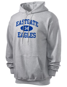 Eastgate Middle School Eagles Men's 7.8 oz Lightweight Hooded Sweatshirt