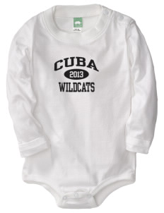 Cuba Middle School Wildcats  Baby Long Sleeve 1-Piece with Shoulder Snaps